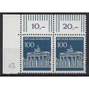 Mi. Nr. 510 als waagerechtes Eckrandpaar links oben mit Druckerzeichen 12 postfrisch