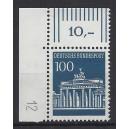 Mi. Nr. 510 als Eckrandstück links oben mit Druckerzeichen 12 postfrisch