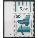Mi. Nr 700 Eckrandstück links oben mit Druckerzeichen 1 postfrisch