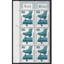 Mi. Nr 700 Eckrandsechserblock links oben mit Druckerzeichen 1 postfrisch