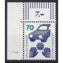 Mi. Nr 773 Eckrandstück links oben mit Druckerzeichen 7