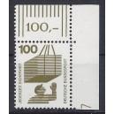 Mi. Nr 702 senkrechtes Eckrandstück rechts oben mit Druckerzeichen 7