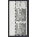 Mi. Nr 140 yw senkrechtes Eckrandpaar links oben mit Druckerzeichen 4 postfrisch
