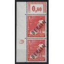 3W als senkrechtes Eckrandpaar links oben mit Druckerzeichen 8 postfrisch und geprüft Schlegel.