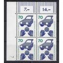 Mi. Nr 773 Eckrandviererblock links oben mit Druckerzeichen 7