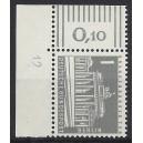 Mi. Nr 140y Eckrandstück links oben mit Druckerzeichen 12 mit Gummi postfrisch