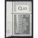 Mi. Nr 140 y Eckrandstück links oben mit Druckerzeichen 12