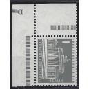 Mi. Nr 140y Eckrandstück links oben mit Druckerzeichen Dm mit Gummi postfrisch.