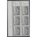 Mi. Nr 140 y Eckrandsechserblock links oben mit Druckerzeichen 7 postfrisch