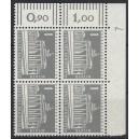 Mi. Nr 140 y Eckrandviererblock rechts oben mit Druckerzeichen 7 mit Gummi postfrisch
