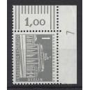 Mi. Nr 140 y Eckrandstück rechts oben mit Druckerzeichen 7