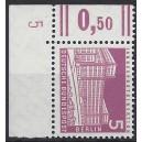 Mi. Nr 141 Eckrandstück links oben mit Druckerzeichen 5