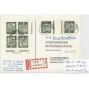 K 1 HAN 015225.61 2 auf portogerechter Einschreibepostkarte