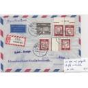 K 4 HAN mit FN 2 auf portogerechtem Luftpostbrief mit Einschreiben nach Venezuela