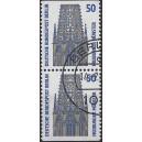 Sehenswürdigkeiten C/D Wert Mi. Nr. 794 im senkrechten Paar Berlingestempelt