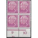 179P Unterrand mit Druckerzeichen Rb postfrisch im Viererblock