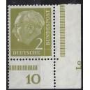 177  postfrisches Eckrandpaar rechts unten mit Druckerzeichen Lo
