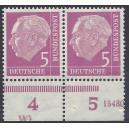 179P Unterrandpaar mit Druckerzeichen Wl postfrisch