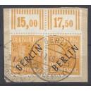 Mi. Nr. 10 Oberrandpaar auf Briefstück gestempelt