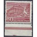 Mi. Nr. 59 Eckrand links unten postfrisch mit kompletter Plattennummer 3