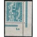 Mi. Nr. 122 Randpaar postfrisch mit Druckerzeichen Zi