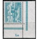 Mi. Nr. 121 Eckrand rechts unten postfrisch mit Druckerzeichen Lo
