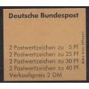 Markenheftchen 19 a mit Randleistenvariante II postfrisch