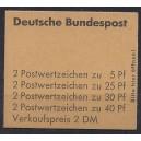 Markenheftchen 19 a RLV III postfrisch breit
