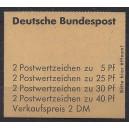 Markenheftchen 19 b mit Randleistenvariante III postfrisch