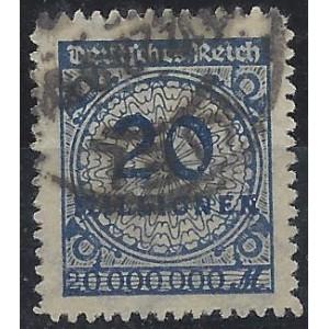 Mi. Nr. 319 B mit perfektem Durchstich gestempelt