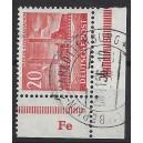 Mi. Nr. 113 im Eckrand rechts unten bzw. links unten mit DZ Fe gestempelt