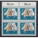 Mi. Nr 269 Oberrandviererblock postfriscch mit abgeschnittenem Aufdruck Berlin