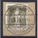 Mi. Nr 38 zentrisch gestempelt Luxus auf Briefstück