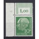 Mi. Nr 183 y b Eckrandstück links oben DZ 2