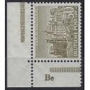 Mi. Nr. 53 Eckrandstück postfrisch mit Druckerzeichen Be
