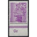 Mi. Nr. 45 Randstück postfrisch mit Druckerzeichen Ge