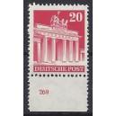 Mi. Nr 85 vom Unterrand postfrisch mit Plattennummer 269