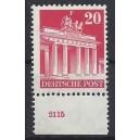 Mi. Nr 85 vom Unterrand postfrisch mit Plattennummer 2115