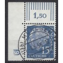 Mi. Nr 184 im Eckrand links oben mit negatives DZ 9 zentrisch gestempelt