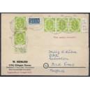 Mi. Nr. 123 mit Plattenfehler auf portogerechter Postkarte