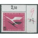 Mi. Nr. 205 im Eckrand rechts oben mit H-Zähnung beschriftet