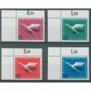 Mi. Nr. 205 - 208 im Eckrand links oben postfrisch
