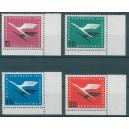 Mi. Nr. 205 - 208 Vb im Eckrand rechts unten mit H-Zähnung postfrisch
