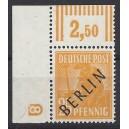 Mi. Nr. 10 im Eckrand links oben mit neg. Druckerzeichen 8 postfrisch geprüft