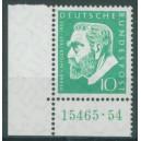 Mi. Nr. 209 im Eckrand links unten mit HAN 15465.54 mit -Zähnung