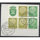 W 10, S 37 in Luxus gestempelter Einheit auf Briefstück