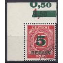 Mi. Nr. 64 im Eckrand links oben gestempelt