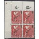 Mi. Nr. 67 Eckrand links oben postfrisch mit der Plattennummer 2 spiegelverkehrt