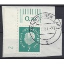 Mi. Nr. 182 Eckrand links oben mit Dz 2 gestempelt auf Briefstück