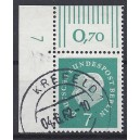 Mi. Nr. 182 Eckrand links oben mit Druckerzeichen 7 gestempelt.